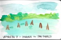 A tengeren Murano és velence között