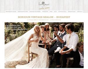 Menyasszonyi szalon vintage stílusban